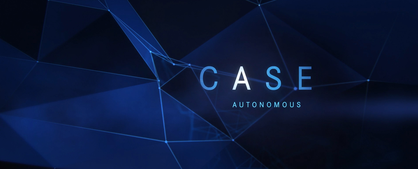 "CASE spelled out with the ""A"" highlighted which stands for autonomous."