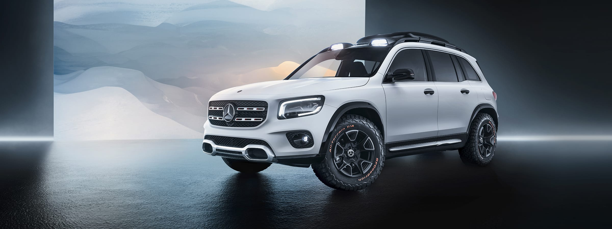 White GLB SUV concept car