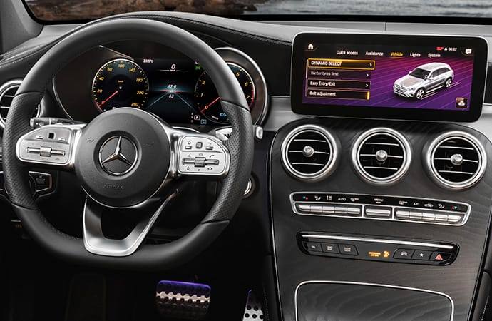 Front interior view of GLC SUV