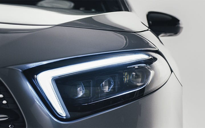 2019 A-Class Sedan LED headlamps