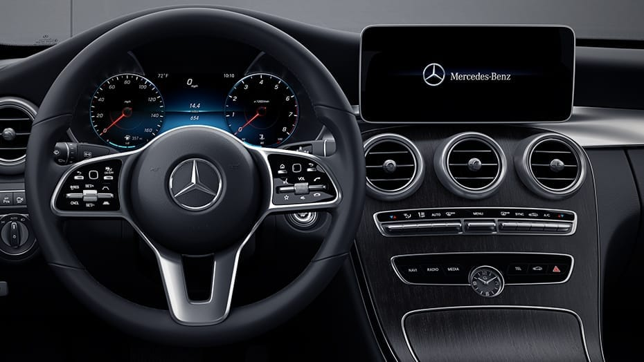 3-spoke steering wheel with Touch Control Buttons