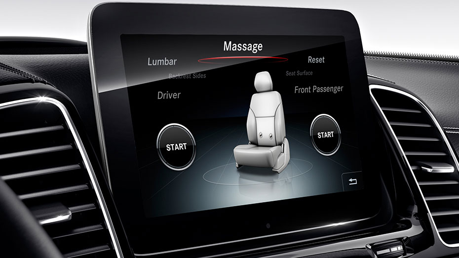 Multicontour front seats with massage feature