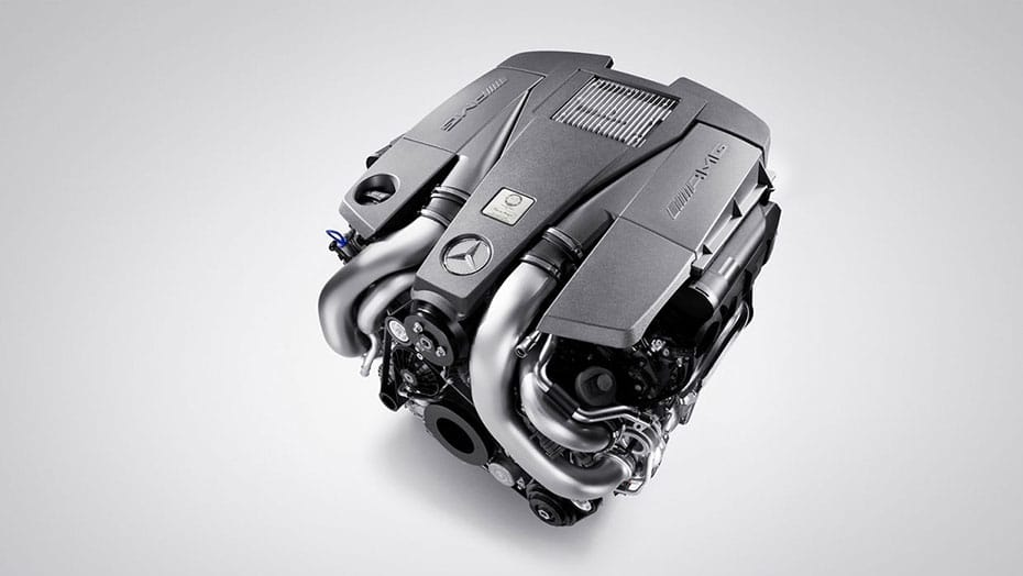 Handcrafted AMG 5.5L V8 biturbo engine
