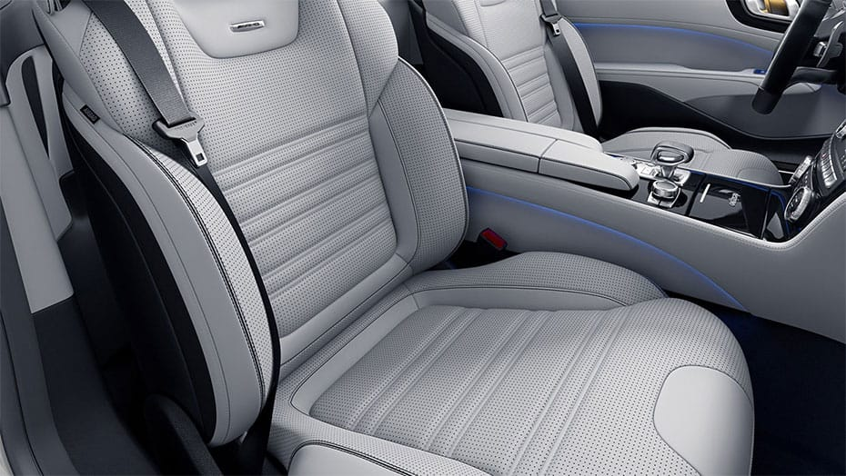 Sun-reflecting AMG Nappa leather upholstery