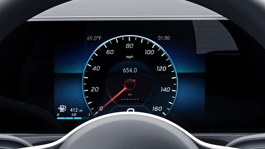 7-inch digital instrument cluster