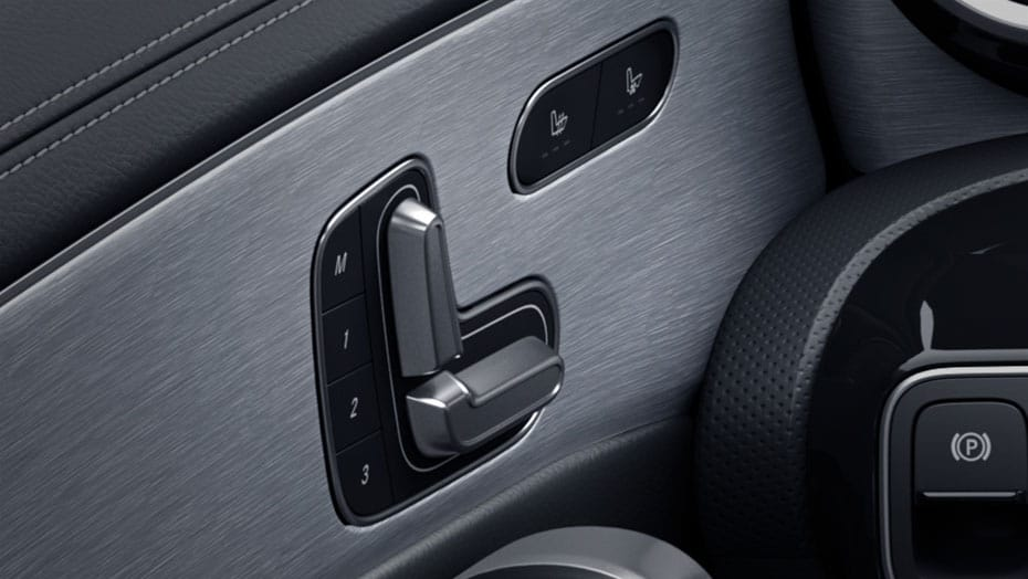 Power front seats with 3-position memory