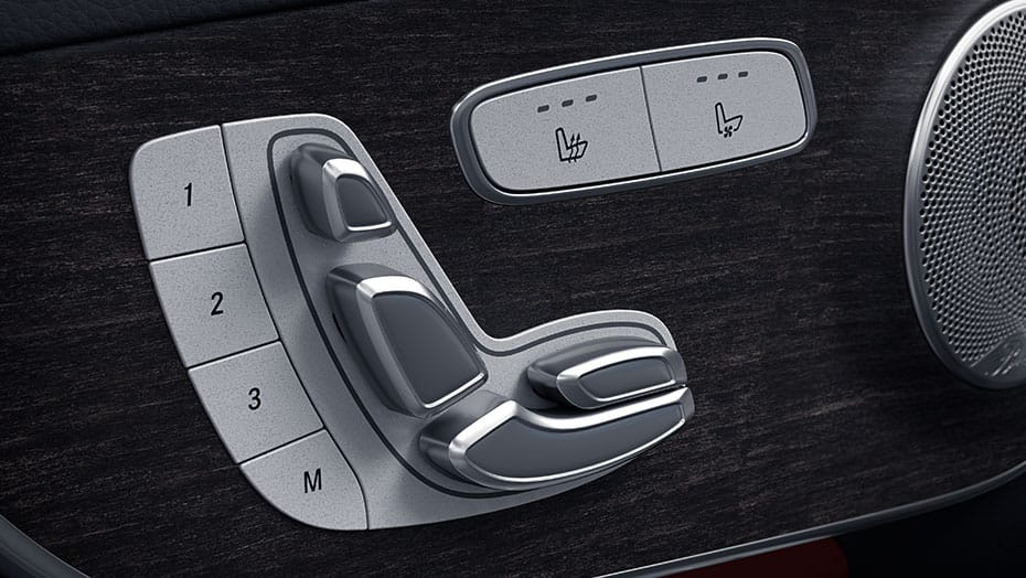Power front seats with driver-seat memory