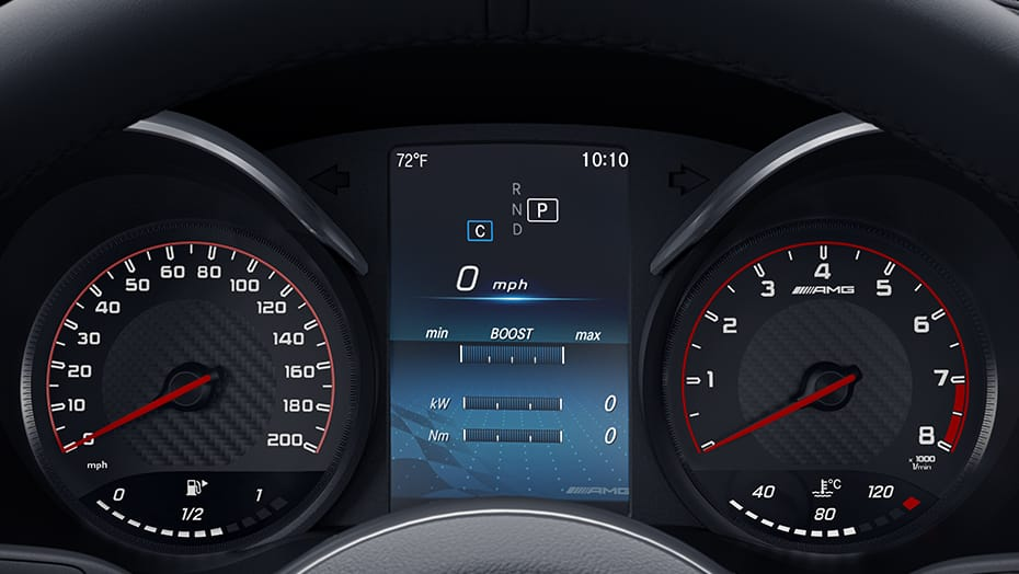 Analog gauges with high-resolution multifunction display