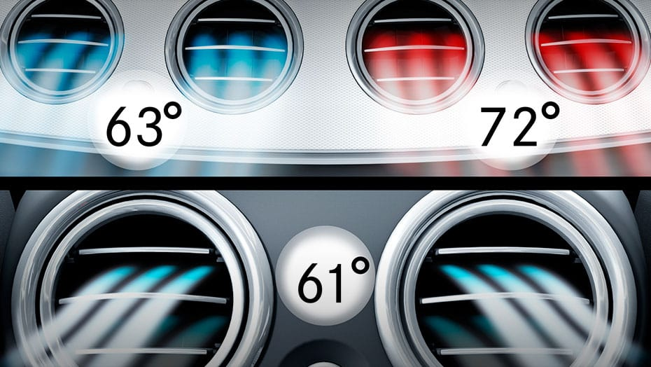3-zone automatic climate control