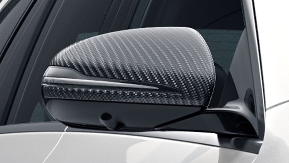 AMG carbon fiber mirror covers