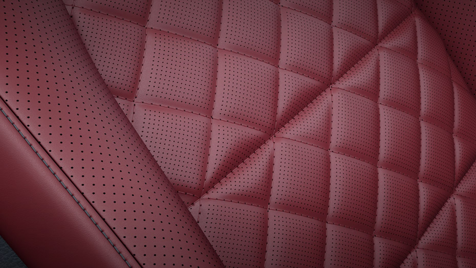 designo Bengal Red Nappa leather upholstery