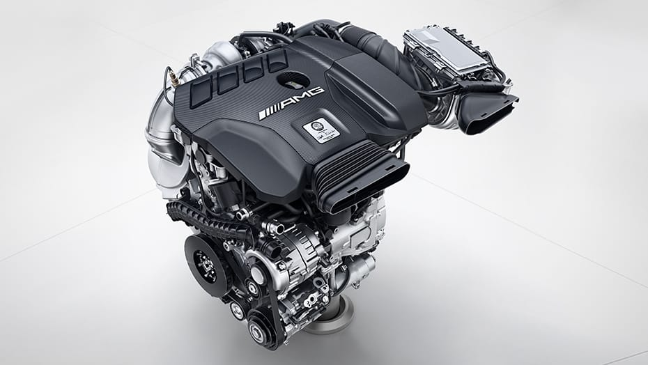 Handcrafted AMG 2.0L inline-4 turbo engine