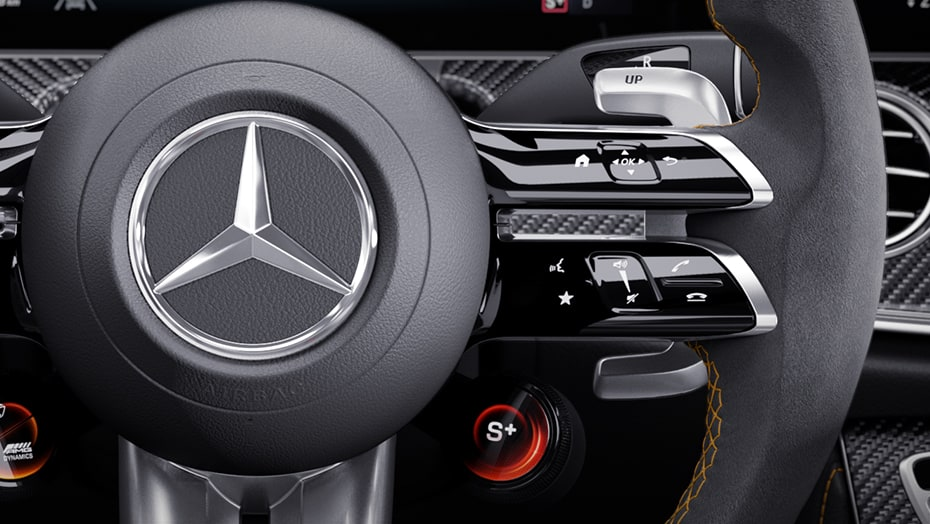 Steering wheel with Touch Control Buttons