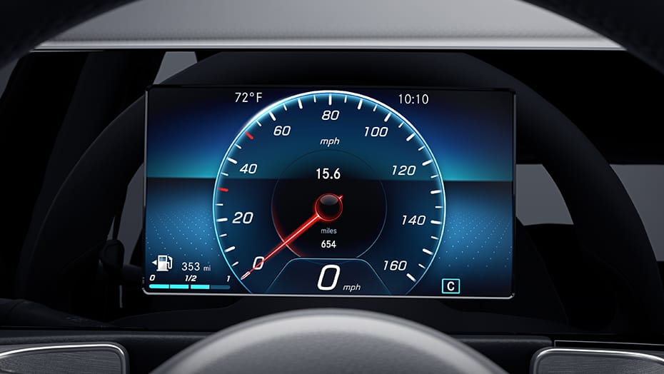 7-inch digital instrument cluster display