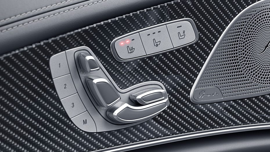 Heated power front seats with memory