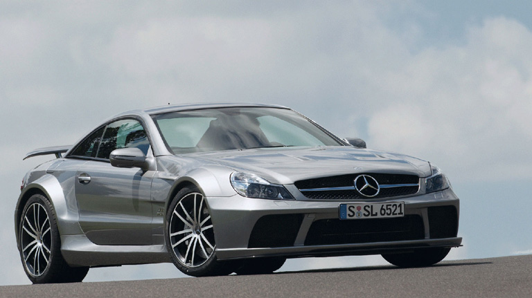 Gray AMG SL65 AMG Coupe Black Series