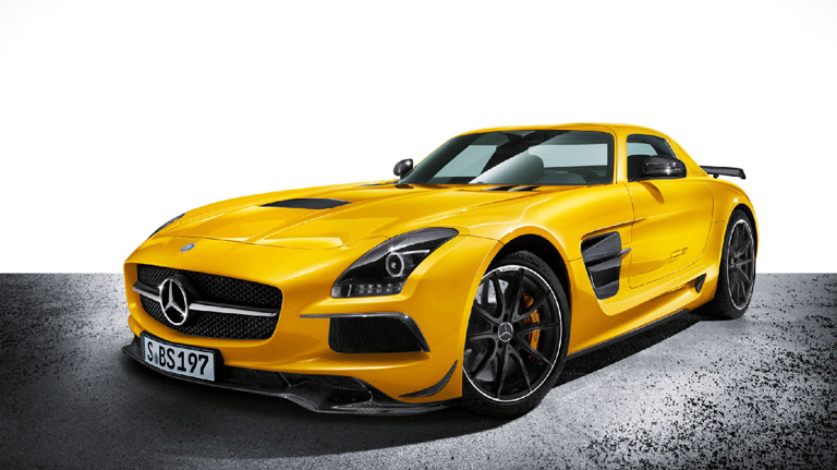 Yellow AMG SLS AMG Coupe Black Series