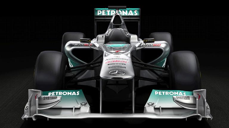 AMG MERCEDES AMG PETRONAS Formula One racecar