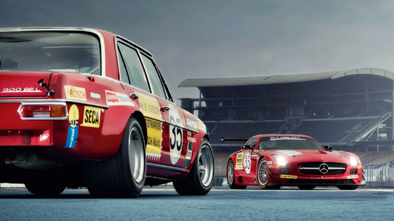 AMG Red Race Cars