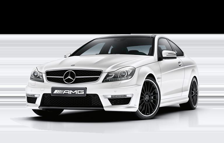 WHITE AMG C63