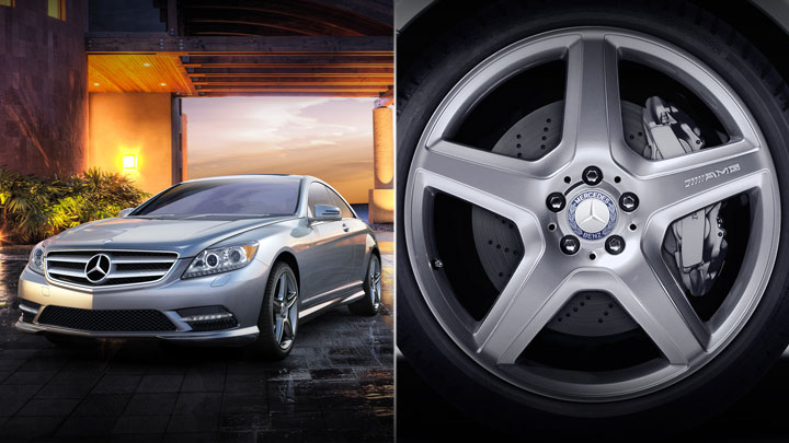 20-inch AMG 5-spoke wheels with high-performance tires