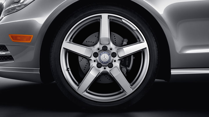 19-inch AMG 5-spoke wheels with high-performance tires