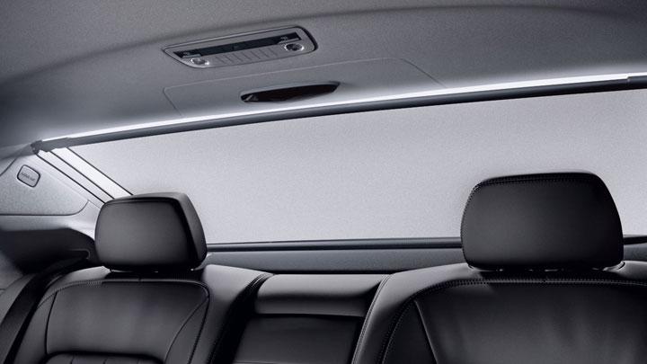 Power rear-window sunshade