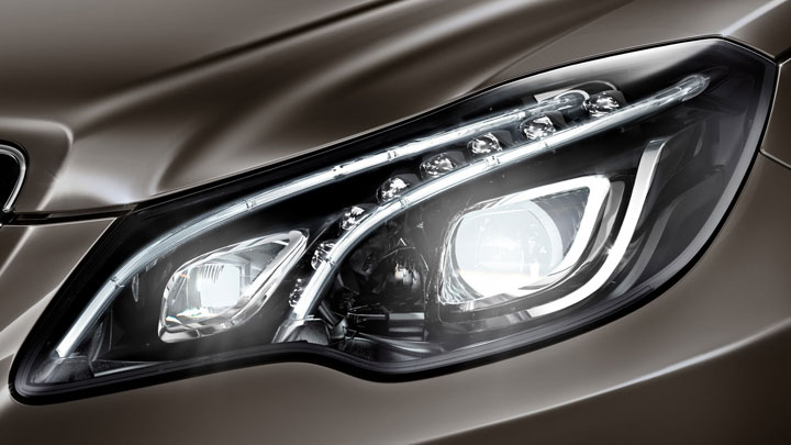 Full-LED headlamps with Active Curve Illumination