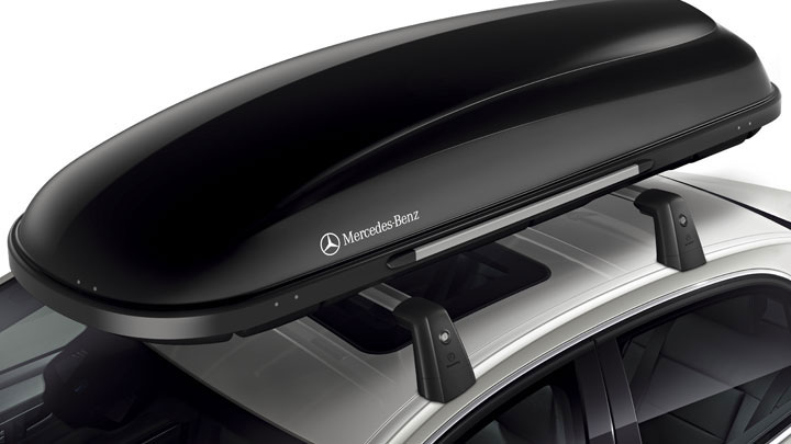 Mercedes benz accessories roof rack for Mercedes benz cargo box