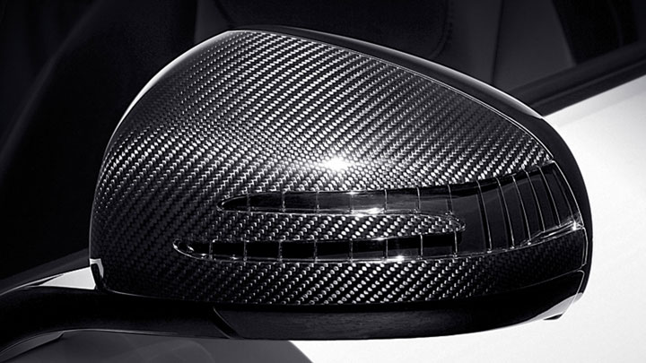 Carbon fiber side mirror caps