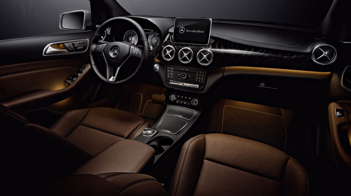 B-Class Electric Drive with optional Brown leather and Multimedia Package
