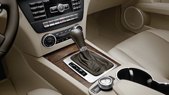 Luxury Sedan in Almond Beige/Mocha and Burl Walnut wood