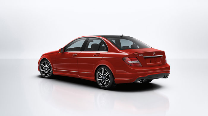 Sport Sedan in Mars Red with the available Sport Package