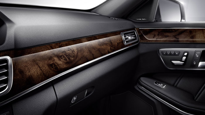 Sport Sedan in Black with Burl Walnut wood trim