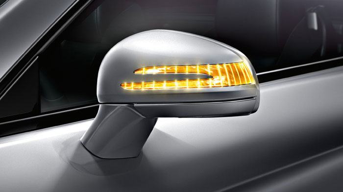 side mirror with integrated LED turn signal