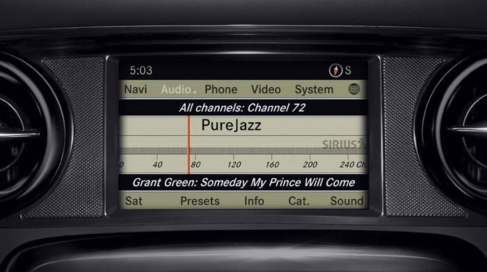 SLS AMG GT with standard SiriusXM Radio