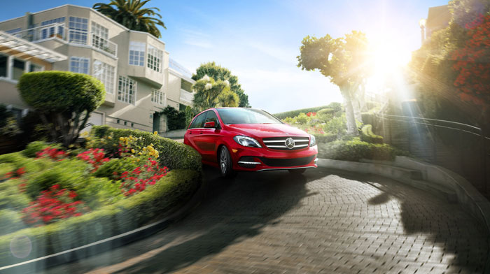 B-Class Electric Drive in Jupiter Red with Premium Package