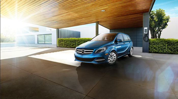 B-Class Electric Drive in South Seas Blue with Premium Package