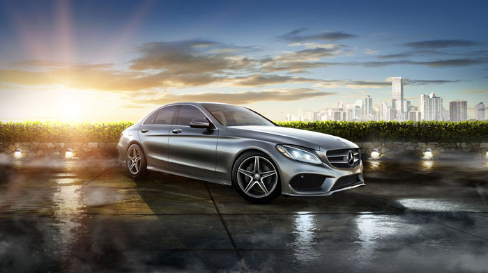 4MATIC Sedan in Palladium Silver with standard 18-inch AMG wheels