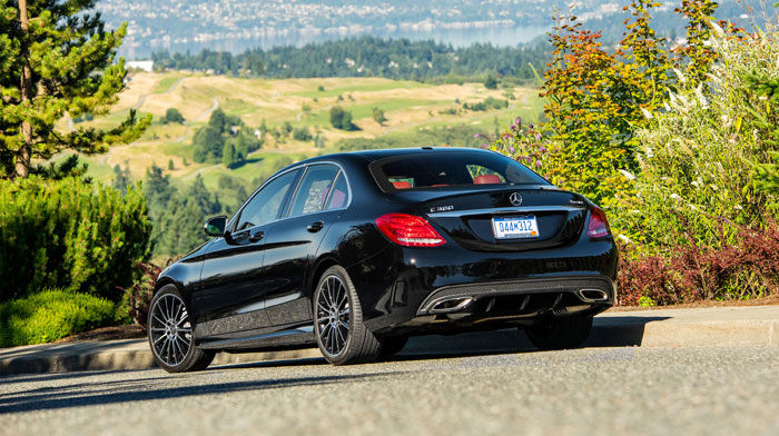 Sedan in Black with Sport Package and 19-inch AMG multispoke wheels