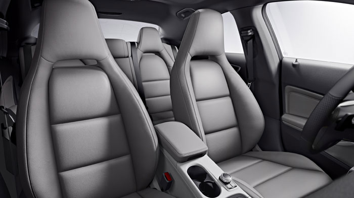 in Ash leather with standard sport seating