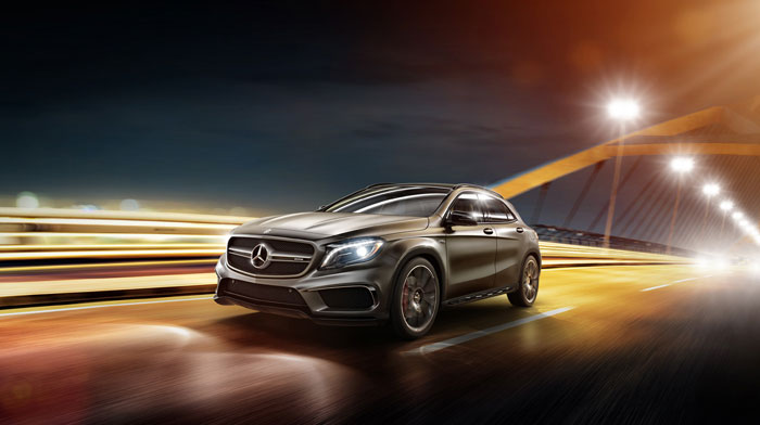 GLA45 AMG in designo Magno Mountain Grey with AMG Driver's Package