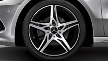 18-inch AMG 5-spoke wheels