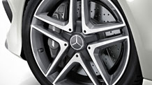AMG wheel center caps with concealed lugs