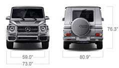 Mercedes Benz 2014 G CLASS G63 AMG SUV SPECS FRONT BACK D