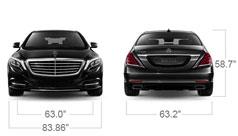 Mercedes Benz 2014 S CLASS S550 LUXURY SEDAN SPECS FRONT BACK D