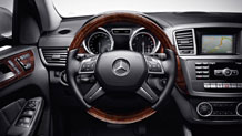 Wood/leather steering wheel