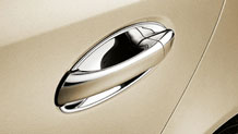 Chrome door handle inserts